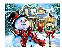 数字で描くクリスマスのキャンバスに描く数字で描くスノーマンアクリルキット家の装飾40 * 50 cm(フレームなし)