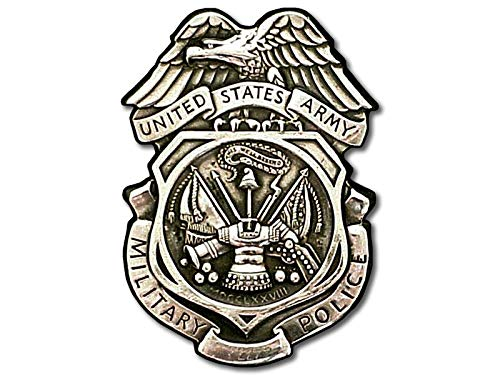 Army MP Silver Logo Shaped Sticker (us Military Police Crest Insignia)