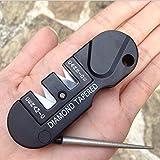 CC Campingausrüstung Pocket EDC Gear Messerschärfer, 3 Stufen, für den Außenbereich, Survival-Werkzeug, Fischhaken, Schleifstein