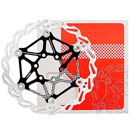 SHHMA Disco de Freno de Disco de Bicicleta 160mm Disco Flotante de Bicicleta de montaña Disco de Freno MTB Equipo de Montar en Disco de Seis Clavos,Negro