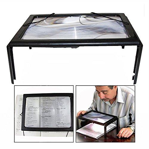 OFKPO vergrootglas met ledlicht en inklapbare standaard, verlicht voor handwerk, naaiwerk, lezen