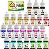24 Farben Lebensmittelfarbe - Flüssige Lebensmittel Farben Set für Kuchen Backen, Macaron, Fondant, Kekse - Hochkonzentrierte Food Coloring für Kuchendekoration, DIY Slime - 6ml jeder (24 Farben)