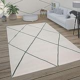 Paco Home Alfombra Salón Motivo Escandinavo Rombos Moderno Blanco Varios Diseños Y...