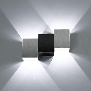 avec interrupteur /à tirette Chiic Applique murale LED D/écoratif Moderne en Verre et M/étal Murale Applique Interieur Lumi/ère pour Chambre /à coucher Salle /à manger Salon Bureau Salle de bain Couloir