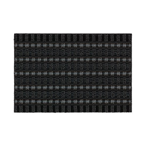 Bavaria Home Style Collection Fußmatte Poly Brush Hoch- Tief grau/schwarz 40 x 60cm