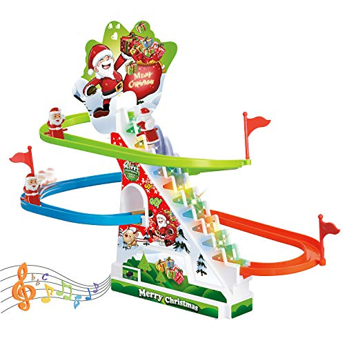 FUN LITTLE TOYS Race Track Set, Toddler Roller Coaster Toys with Lights and Music, Novelty Toys Birthday Gifts for Boys and Girls