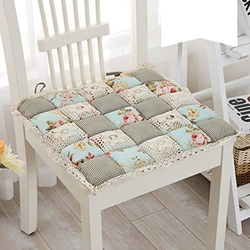ACCP Cojines para sillas de Comedor,Cojines para Asientos de sillas,Cojines para Asientos Un Juego de 4 Ganchos de Tela Flores Tela de jardín Floral para Cocina Comedor Cojines para sillas de jardín