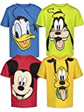 Disney Mickey Mouse Toddler Boys 4 Pack Short Sleeve T-Shirts 4T
