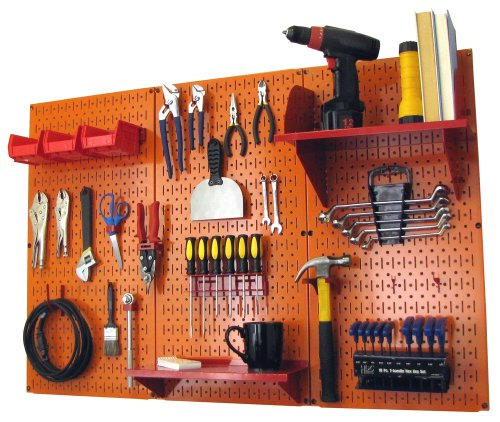 Tool organization system wall mount peg board tool holder