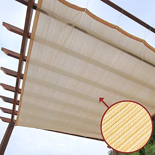 Telo Ombreggiante, Vela Parasole Beige per Copertura per Tettoia/Gazebo Pergola, Tendalino Parasole per Auto Realizzato in Polietilene di Alta qualità, Effetto Protezione Solare 90%, Antipolvere e A