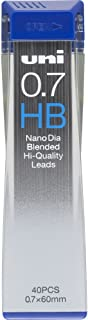 Uni Mechanical Pencil Lead, Nano Dia, 0.7mm, HB (U07202NDHB)