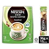 Nescafé Ipoh White Coffee HAZELNUT (15 Sachets) - 'Oh So Nutty' Flavored Premix Instant Coffee...