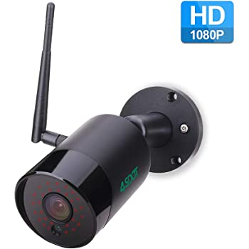 Outdoor Security Camera 4SDOT 1080P Wireless IP Camera Night Vision WiFi Surveillance Video Camera IP66 Waterproof Bullet CCTV Camera Two Way Audio Motion Detection Support 128GB SD Card