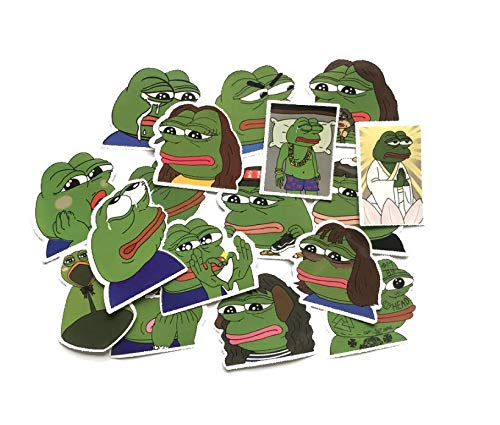 ZJJHX Sad Frog Sad Pepe The Frog Sticker Suitcase Motor Car Decoration Personalidad Pegatinas Impermeables 17 Hojas