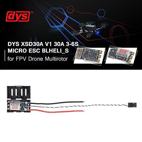 Mobiliarbus RC ESC DYS XSD30A V1 30A 3-6S Micro ESC BLheli_S Firmware-Unterstützung Dshot600 Dshot300 für FPV Drone Multirotor