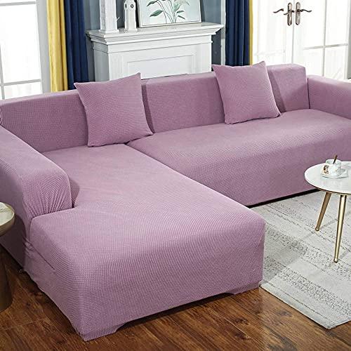 zvcv Funda de sofá elástica para sofá de 5 plazas, Funda Protectora Lavable y Duradera, Protector de Muebles para Perros, niños, Mascotas-5 plazas-C