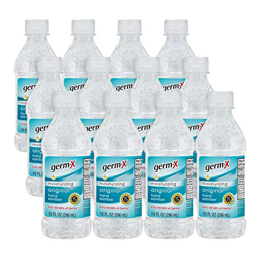 Germ-X Original Hand Sanitizer, 10 Fluid Ounce Bottles, 10 fl oz (Pack of 12), 120 Fl Oz