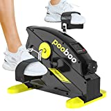 pooboo Pedal Exerciser Under Desk Bike Stationary Exercise Leg Peddler Portable Mini Cycle Bike for Legs and Arms Exercise