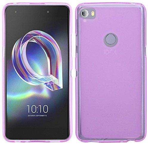 cofi1453 Silikon Hülle kompatibel mit Alcatel Idol 5S (6060X) Tasche Case Zubehör Gummi Bumper Schale Schutzhülle Zubehör in Pink