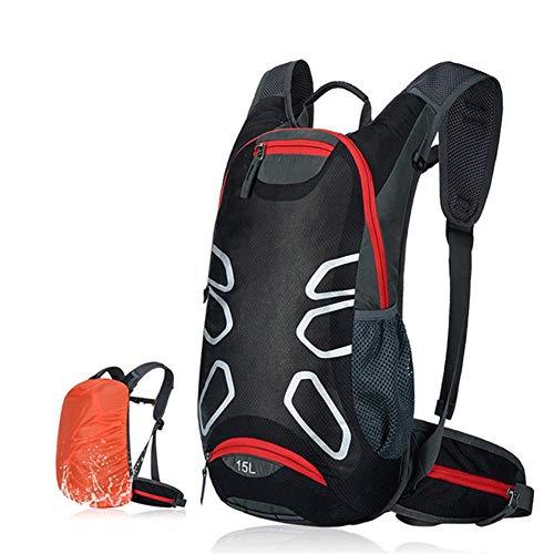 NBHBSZY 15L fahrradisolierter Trinkrucksack, mit Regenschutz, aus ultraleichtem wasserdichtem Nylongewebe, reißfest, spezielles Lochdesign, atmungsaktiv und bequem