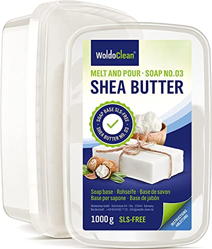 Glycerinseife Sheabutter Seife zum Selber machen - 1kg für Kinder & Erwachsene Verpackung Mikrowelle geeignet
