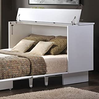 Cottage White Queen Cabinet Bed by Creden-ZzZ