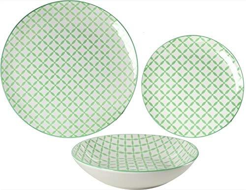 juego de platos milady de piezas Verde
