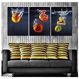 HHLSS Pintura de Arte 3x60x80cm sin Marco Carteles de Frutas confitadas de Tomate e Impresiones...