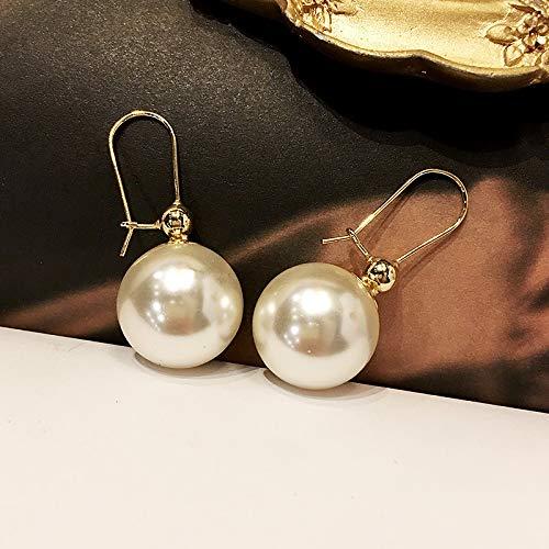 Chwewxi Große Perlenohrringe Weiblichkeit Korean Tide Ohrringe Ohrringe, Perle-Gold