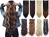 7Pcs 16 Clips Thick Curly