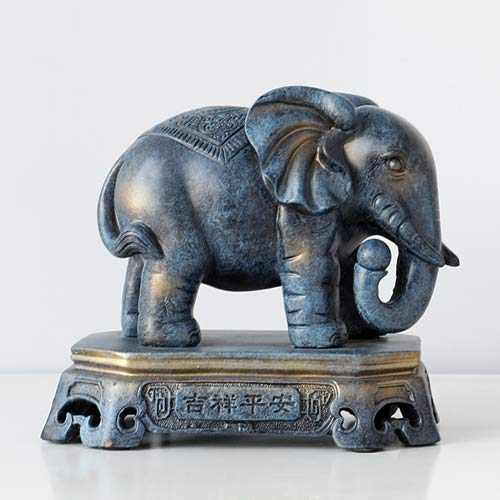 JIAXIN Esculturas Decorativas Accesorios De Decoración del Hogar Elefante Afortunado Pareja Estatuilla...