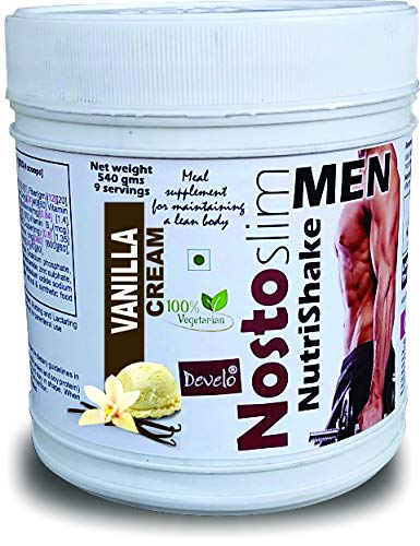DEVELO NOSTOSLIM LOW CALORIE SLIMMING PROTEIN SHAKE FAT BURNER WEIGHT LOSS PRODUCT FOR MEN 540 GM [VANILLA]