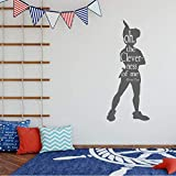 Wall Decal Silhouette – 'Oh the Cleverness of me' – Peter Pan – Kids Room or Playroom