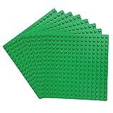 Katara 1741 Placas de Construcción 8 Pcs - 13x13cm / Pernos 16x16 Compatible con Lego, Sluban, Papimax, Q-Bricks, Verde
