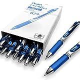 Pentel, EnerGel XM BL77,einschiebbarer flüssiger Gelschreiber, 0,7mm,54 % recycelt, 12Stück blau