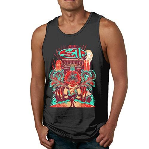 WLQP Camiseta sin Mangas para Hombre 311 Band Men Workout Fitness Casual Tank Tops Sleeveless Shirt