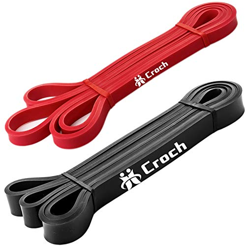 elastici trazioni Loop bandes set completo coresteady band elastiche fitness in lattice naturale Fascia di resistenza come resistenza e supporto per ausilio al pull-up con istruzioni per esercizi