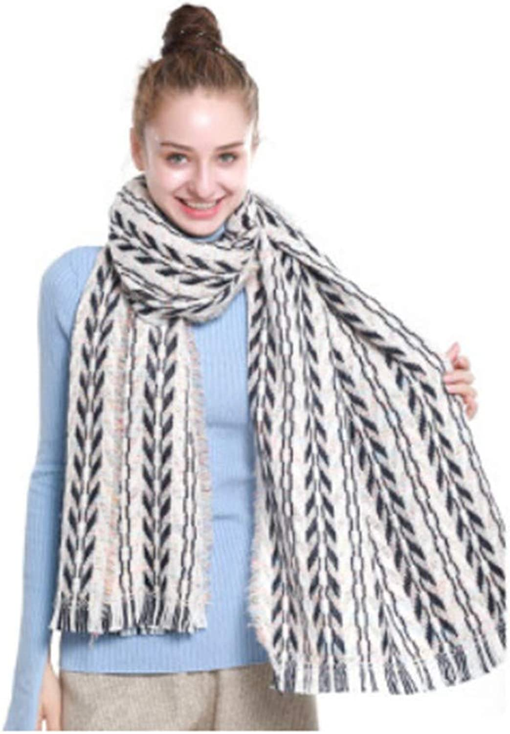 HYLIU Infinity Scarf Winter couple student scarf comfortable and breathable Bei