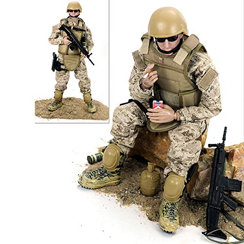 CHTH Figura de acción a Escala 1/6, Juguete de Soldados del ejército, Juego de Figuras Militares de Juguete de Modelo de héroe de Soldado Militar de 12 Pulgadas (A)
