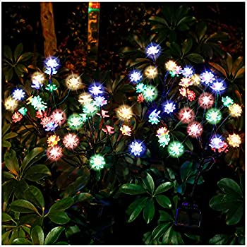TONULAX Solar Garden Lights - Newest Solar Powered Landscape Tree Lights with Larger Solar Capacity Solar Decorative Lights Outdoor for Pathway Patio Front Yard Decoration 2 Pack