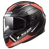 LS2 Helmets Full Face Stream Street Helmet (Axis Matte Red/Black - Small)