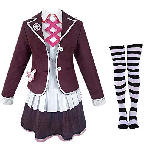 AMITD Danganronpa Another Episode Costume Ultra Despair Girls Utsugi Kotoko Utsugi Uniform Cosplay Women Pleated Skirt