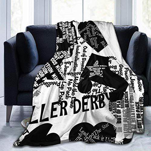 Popcorn In Spring Sprechen Sie Roller Derby Decke Super Soft Light Weight Gemütlich Warme Flauschige Plüsch für Bett Couch Wohnzimmer