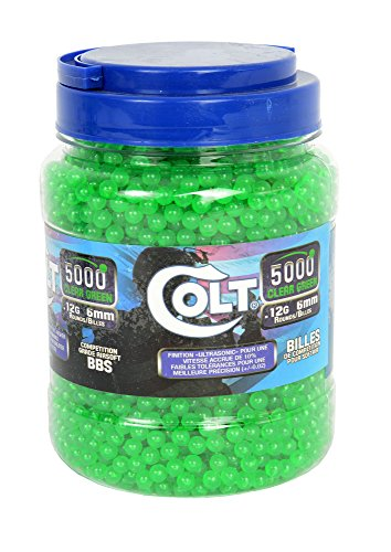 Colt Competition .12 g 6mm Green BBS, 2,000 Count