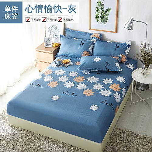 DOUJIAO All Seasons Use Fitted Sheets Soft Polyester Bed Linen Bedspread Mattress Cover Bedding Set Home Decor Bed Sheets Home Textiles180*200cm