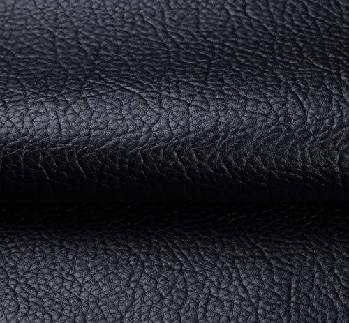 Tissu Simili Cuir Imperméable Tissu D'ameublement Tapisserie pour Canapé De Siège De Voiture Meubles Vestes Sac À Main Tissu Au Metre 140 CM (Largeur Fixe) (Color : Black)