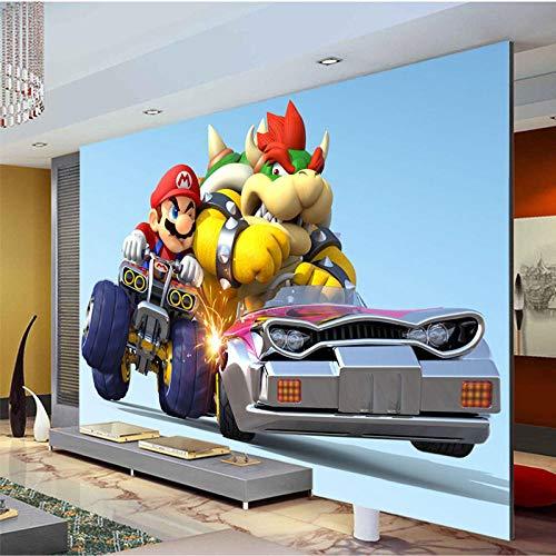 MIYCOLOR Benutzerdefinierte Tapete Super Mario Kart Fototapete Cartoon Spiel Wandbild Kinderzimmer Silk Art Room Decor Schlafzimmer Wohnzimmer-200x140