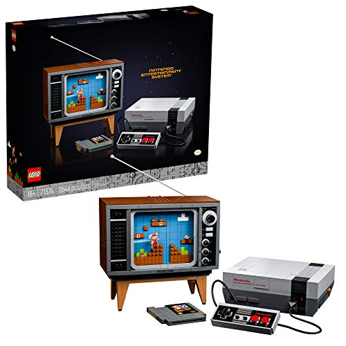 LEGO Nintendo Entertainment System 71374 Building Kit Creative Set for Adults Build Your Own LEGO NES and TV New 2021 2646 Pieces