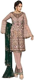 رداء هندي مسلم جورجيت مستقيم بدلة بنطلون Nazmeen Dupatta Eid فستان 5317 a
