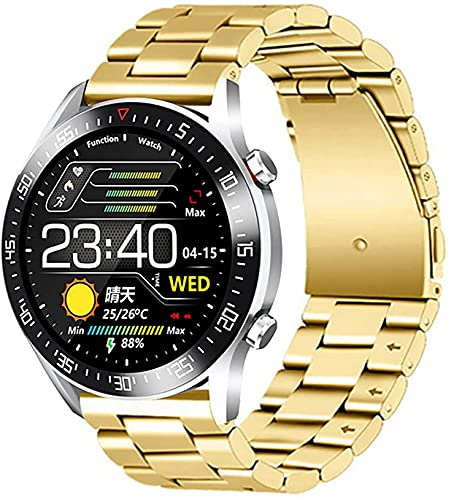 QIXIAOCYB Reloj inteligente inteligente con presión arterial/oxígeno en la sangre/monitor de ritmo cardíaco calorías Fitness Tracker actividad IP68 impermeable reloj deportivo, B,